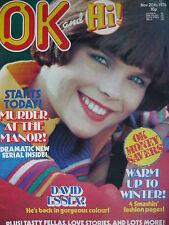 OK MAGAZINE 20TH NOV 1976 - DAVID ESSEX - STEVE HARLEY - EDDIE KIDD