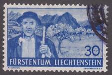 Liechtenstein 1937-38 #142 Peasant in Rhine Valley - Used