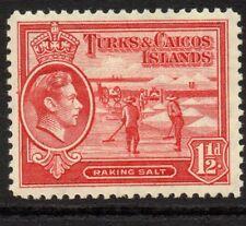 TURKS & CAICOS IS. SG197 1938 1½d SCARLET MTD MINT