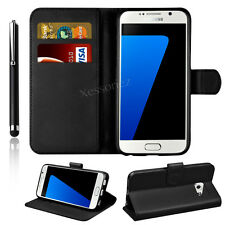 Luxury Leather Flip Case Wallet Stand Cover For Samsung Galaxy Phones