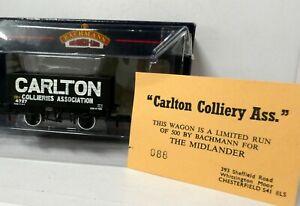 Bachmann 37-125z 8 Plank Wagon CARLTON 4727 black Ltd Ed BNIB (j)
