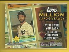 Thurman Munson 2010 Topps Million Card Giveaway Insert # TMC-18 Yankees Baseball