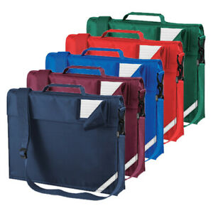 QUADRA Junior Book Bag With Strap Padded Handle Rip Strip School QD457