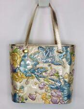 VTG DeLill Creation Quilted Padded Gold  Fairy Floral Handbag Purse  i