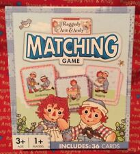 Raggedy Ann & Andy Matching Game by Masterpieces New in Box Brand New Product!