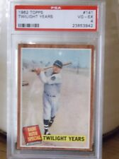 1962 Topps #141 - Babe Ruth Special - TWILIGHT YEARS - PSA 4 VG-EX