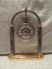 Sun Time Colorado Rockies Executive Sports Pocket Clock MLB Baseball