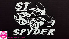 CAN-AM SPYDER  ST LTD  WITH LETTERING- WINDOW DECAL / STICKER  - 13 colors