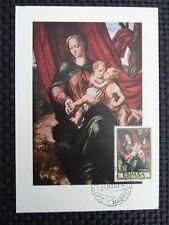 Spain MK 1970 Madonna Maria maximum carta carte MAXIMUM CARD MC cm c1749