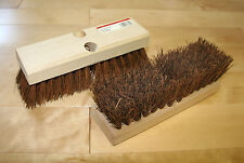 "9"" Palmyra Deck Scrub Brushes, Wood Block accepts Tapered Hdl (Two per Lot) #200"