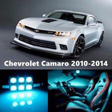 9pcs LED ICE Blue Light Interior Package Kit for Chevrolet Camaro 2010-2014