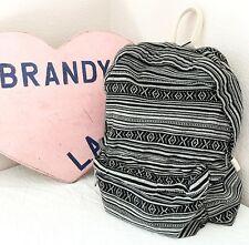 Authentic brandy melville Gray Black Aztec Print School Backpack NWT