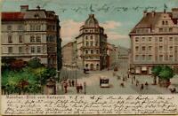 1494: Postkarte Ansichtskarte München blick vom Karlsplatz gelaufen 1901