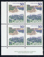 Canada #958v(11) 1972 50 cent SEASHORE LF Lower Left Plate Block MNH CV$50.00