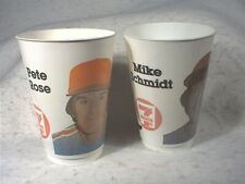 Mike Schmidt and Pete Rose, 7-Eleven Plastic Cups, 1982