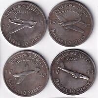Exonumia set of 4 token Germany. third Reich. Adolf Hitler.