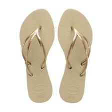 Havaianas Slim Tria Rubber Flip Flops Women Sand Grey Brazil 37/38 7/8 US