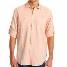 New Tommy Bahama Island Modern Fit Sand City Oxford Convertible Sleeve Shirt XL