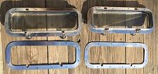 """Pair Stainless Steel Boat Yacht Deck Side Hatch Window 5 1/4"""" x 17 1/4"""""""