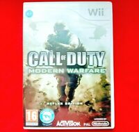 CALL OF DUTY - MODERN WARFARE - REFLEX EDITION - ( NINTENDO Wii ) - 2009 - VGC
