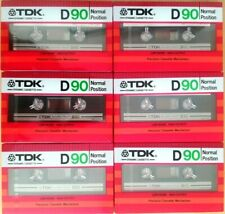 6 x TDK D 90 (1982) made in Japan - CASSETTE TAPES BLANK new SEALED