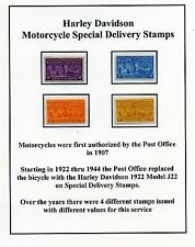 United States Harley Davidson Stamps mounted for display Post Office Fresh