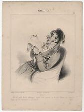 Karikatur / Satire / Zensur (Frankreich) : Lithographie, um 1840