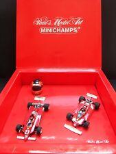 Minichamps - Gilles Villeneuve - Ferrari -  Set - 126C2 & 312T4 and helmet -Rare