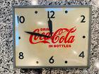 Vintage Coca Cola Bubble Clock from Swinhart Elmwood, IN 120 Volt,