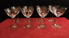 Service de 8 verres coupe à porto en cristal de Baccarat forme V, Montaigne ?