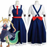 Miss Kobayashi-san Dragon Maid Toru Tohru Cosplay Costume Uniform Dress Anime