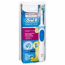 Oral-B Vitality Plus Floss Action Rechargeable Electric Toothbrush 2 Brush Heads