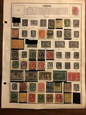 Early Canada Stamp Album Pages 1870-1967 High Value Accumulation Collection