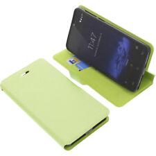 Funda para Cubot R9 Smartphone Libro - Estilo Protectora de Móvil Verde