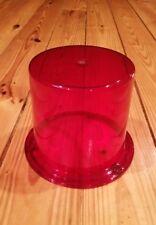 Vintage NOS BL378 Red Beacon Lens Police Fire for Revolving Light