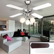 Ventilateur De Plafond Lampe Boule Spot Projecteur Lumière PLUS SILENCIEUX Aile