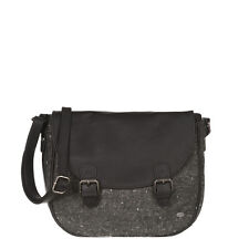ANIMAL WOMENS HANDBAG.CHANCE BLACK/GREY WOOL CROSS BODY SHOULDER BAG 7W 317 K24