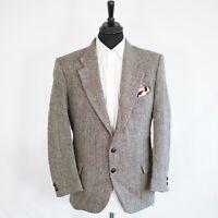 Wm.H.Leishman Harris Tweed Vintage Blazer Brown Herringbone 46S