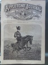 Horse Jumping Fence The Country Appletons' Journal 1869