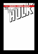 Incredible Hulk 181 Blank Sketch Facsimile Variant 1st Appearance of Wolverine