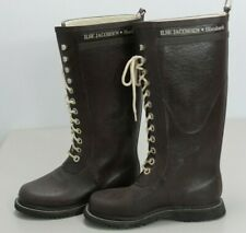 ILSE JACOBSEN Womens Wellington Boots High Knee Wellies Brown Size 4 UK 37 EU