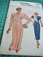 9805 Very Easy Very Vogue Vtg wrap dress 1987 OOP Misses sz 6-10 Uncut Pattern