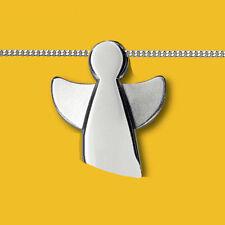Kinder Baby Taufe Schutz Engel offene Flügel Anhänger mit Kette Echt Silber 925