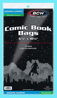 "100 BCW CURRENT / MODERN RESEALABLE COMIC BOOK BAGS 6-7/8""x10-1/2"" Clear Archive"