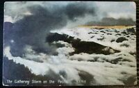 Antique Gathering Storm On The Pacific Postcard Postmarked 1909 (P116)