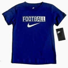 "New Nike Little Boys ""Football"" Graphic T-Shirt Size 4 Deep Royal Blue"