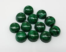 Natural Loose Green Malachite Round Cabochon 7mm approx 2pc 3.5cts Nontreated