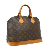 LOUIS VUITTON ALMA HAND BAG PURSE MONOGRAM CANVAS M51130 VINTAGE VI1915 34722