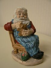 "United Design Santa Sewing on Teddy Bear Figurine 4"" H Wooden Chair Toys"