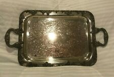 Gotham Silver Plate Serving Tray Platter Vintage Silverplate On Copper Antique
